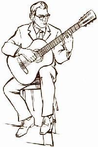 Урокги гитары теория. Посадка гитариста