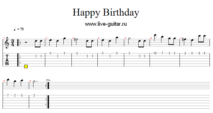 Guitar tabs happy birthday to you - nezamestnanost.info