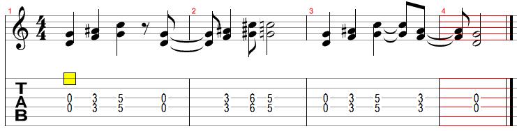 Как играть на гитаре smoke on the water – deep purple 1-й вариант.