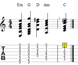 перемен аккорды
